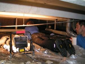 VERSTOPTE WC, rool reparatie, wc verstopt, verstopte wc, rioolreparatie, rioolherstel, rioolwerkzaamheden, kruipruimte, afvoer verstopt, verzakte afvoer, verzakt riool