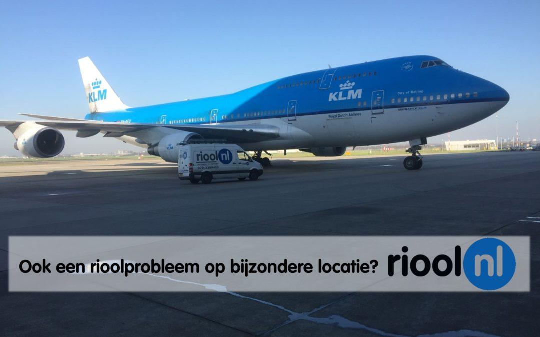 Riool.nl ontstopt KLM parkeerterrein voor vliegtuigen