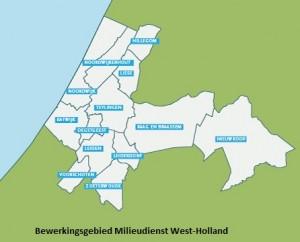 Bewerkingsgebied Milieudienst West Holland