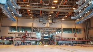 riool verstopt in hangar 14 schiphol