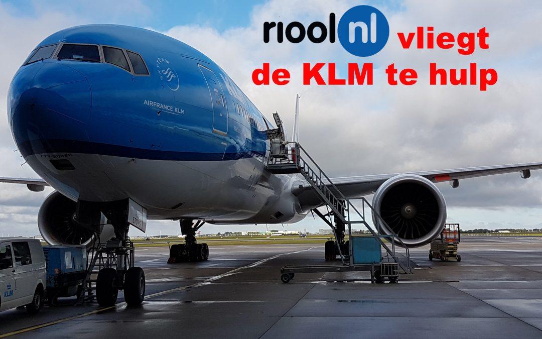Rail Verstopt? Riool.nl vliegt de KLM te hulp