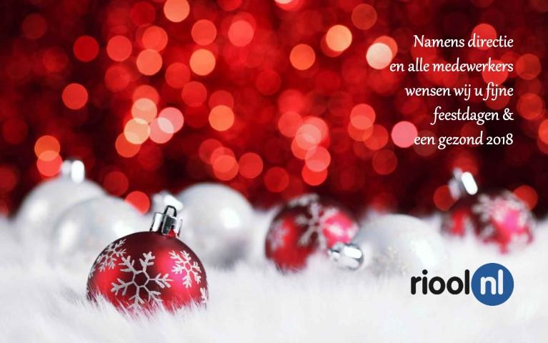 Fijne feestdagen en gezond 2018 namens RIOOL.NL